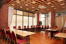 Transformable meeting room with big windows for max. 25 persons, or party room for max. 42 persons.