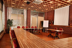 <p>Transformable meeting room with big windows for max. 25 persons, or party room for max. 42 persons.</p>